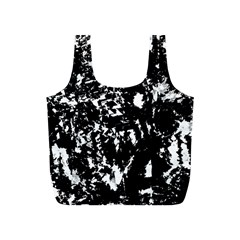 Black and white miracle Full Print Recycle Bags (S)