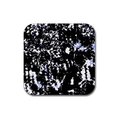 Little bit of blue Rubber Square Coaster (4 pack)