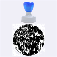 Little bit of blue Rubber Round Stamps (Large)