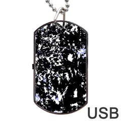 Little bit of blue Dog Tag USB Flash (One Side)