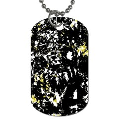 Little bit of yellow Dog Tag (One Side)