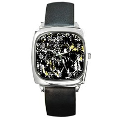 Little bit of yellow Square Metal Watch