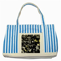 Little bit of yellow Striped Blue Tote Bag