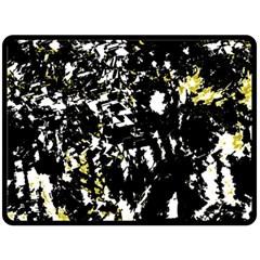 Little bit of yellow Fleece Blanket (Large)
