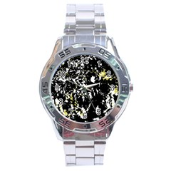 Little bit of yellow Stainless Steel Analogue Watch