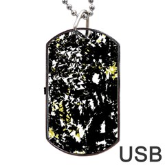 Little bit of yellow Dog Tag USB Flash (Two Sides)