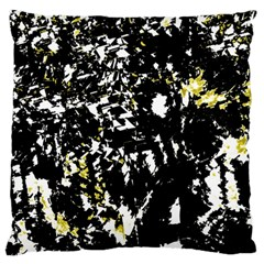 Little bit of yellow Large Flano Cushion Case (Two Sides)