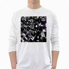 Little bit of purple White Long Sleeve T-Shirts