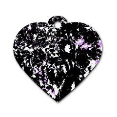 Little bit of purple Dog Tag Heart (Two Sides)