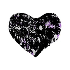 Little bit of purple Standard 16  Premium Flano Heart Shape Cushions