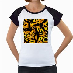 Yellow design Women s Cap Sleeve T