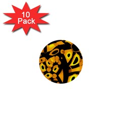 Yellow design 1  Mini Buttons (10 pack)