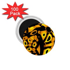 Yellow design 1.75  Magnets (100 pack)