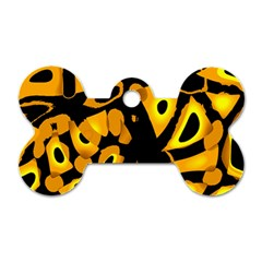 Yellow design Dog Tag Bone (One Side)