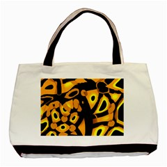 Yellow design Basic Tote Bag (Two Sides)