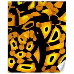 Yellow design Canvas 11  x 14