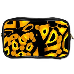 Yellow design Toiletries Bags 2-Side