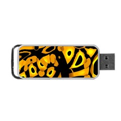 Yellow design Portable USB Flash (Two Sides)