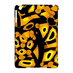 Yellow design Apple iPad Mini Hardshell Case (Compatible with Smart Cover)