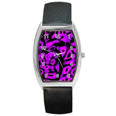 Purple design Barrel Style Metal Watch