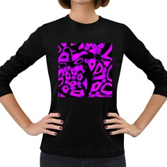 Purple design Women s Long Sleeve Dark T-Shirts