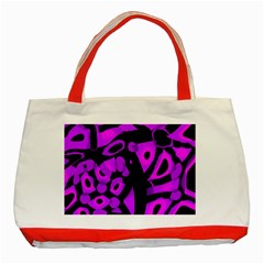 Purple design Classic Tote Bag (Red)