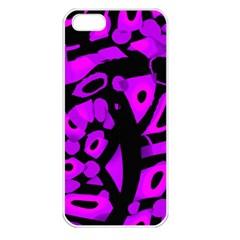 Purple design Apple iPhone 5 Seamless Case (White)