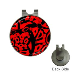 Red design Hat Clips with Golf Markers