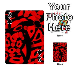Red design Playing Cards 54 Designs