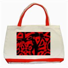 Red design Classic Tote Bag (Red)