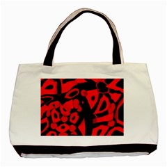 Red design Basic Tote Bag (Two Sides)