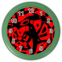 Red design Color Wall Clocks