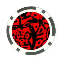 Red design Poker Chip Card Guards (10 pack)