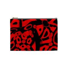 Red design Cosmetic Bag (Medium)