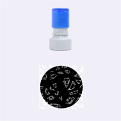 Red design Rubber Round Stamps (Small)