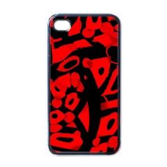 Red design Apple iPhone 4 Case (Black)
