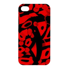 Red design Apple iPhone 4/4S Hardshell Case