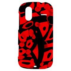 Red design HTC Amaze 4G Hardshell Case