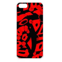 Red Design Apple Iphone 5 Seamless Case (white)