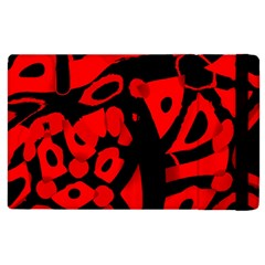 Red design Apple iPad 2 Flip Case