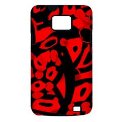 Red design Samsung Galaxy S II i9100 Hardshell Case (PC+Silicone)