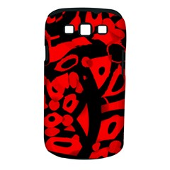 Red design Samsung Galaxy S III Classic Hardshell Case (PC+Silicone)