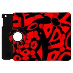 Red design Apple iPad Mini Flip 360 Case