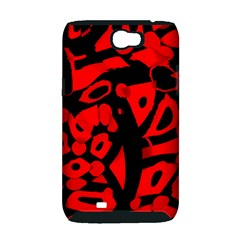 Red design Samsung Galaxy Note 2 Hardshell Case (PC+Silicone)