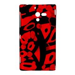 Red design Sony Xperia ZL (L35H)