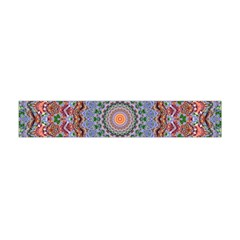 Abstract Painting Mandala Salmon Blue Green Flano Scarf (mini)