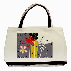 Flowers Basic Tote Bag (Two Sides)