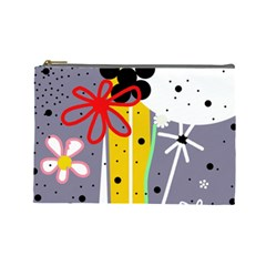 Flowers Cosmetic Bag (Large)