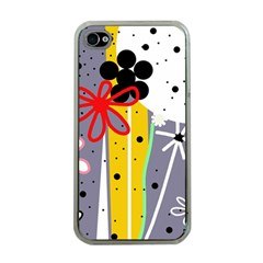 Flowers Apple iPhone 4 Case (Clear)