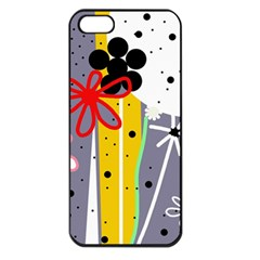 Flowers Apple iPhone 5 Seamless Case (Black)